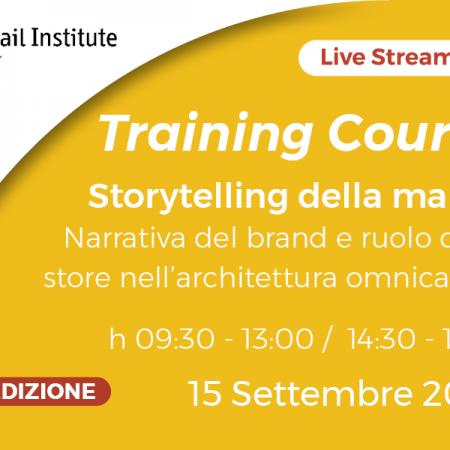 """2^ Edizione Training Course Online """"Storytelling della marca"""" – 15/09/2020"""