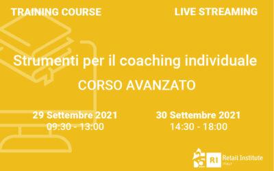 """Training Course """"Strumenti per il coaching individuale"""" – AVANZATO – 29 e 30 settembre 2021"""