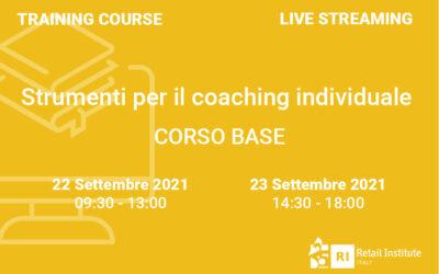 """Training Course """"Strumenti per il coaching individuale"""" – BASE – 22 e 23 settembre 2021"""